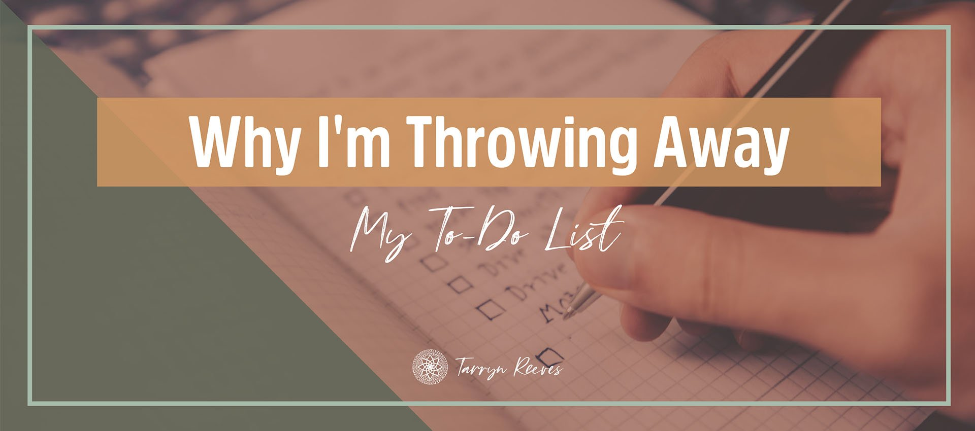 Why I'm Throwing Away My To Do List